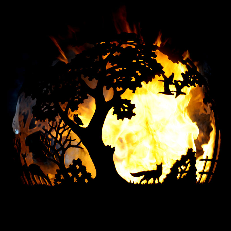 English Country Fireball Fire Pit by Andy Gage
