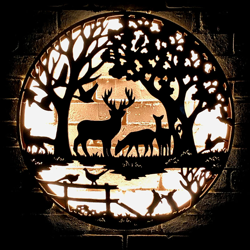 English country illuminated wall mount Andy Gage