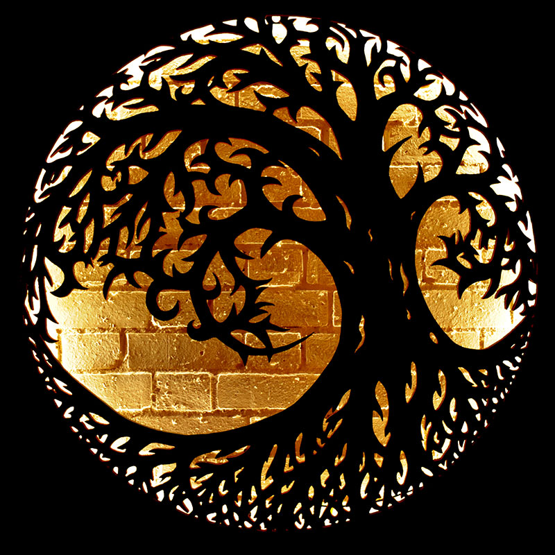 Tree of Life illuminated wall mount by The Fire Pit Company and Andy Gage