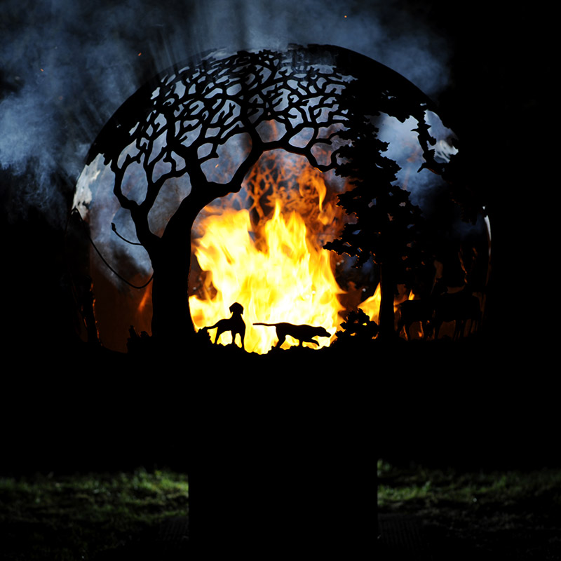 Country Pursuits Shooting Fireball Fire Pit by Andy Gage
