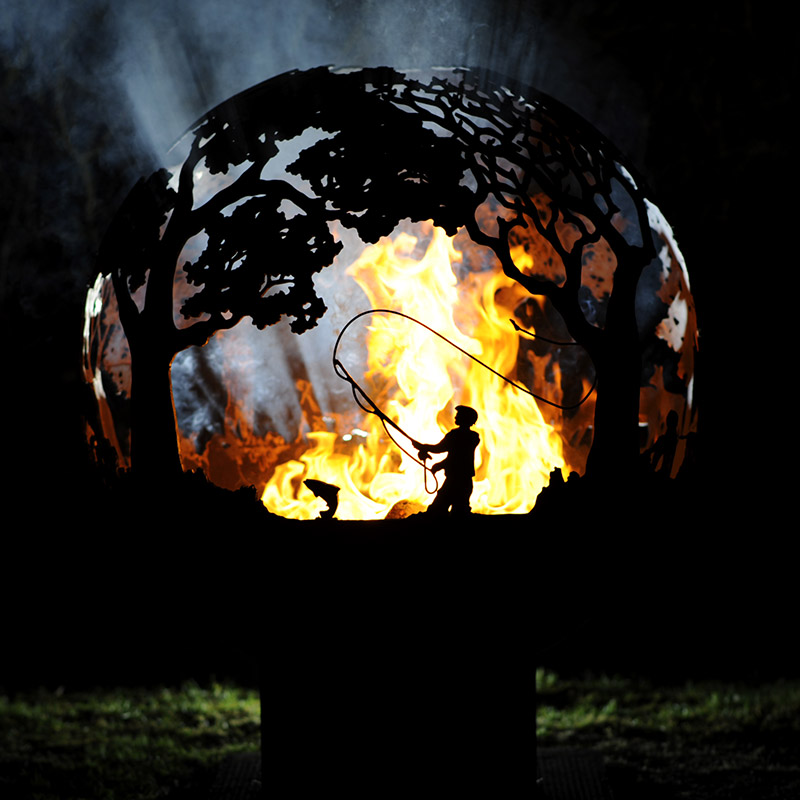Country Pursuits Fishing Fireball Fire Pit by Andy Gage