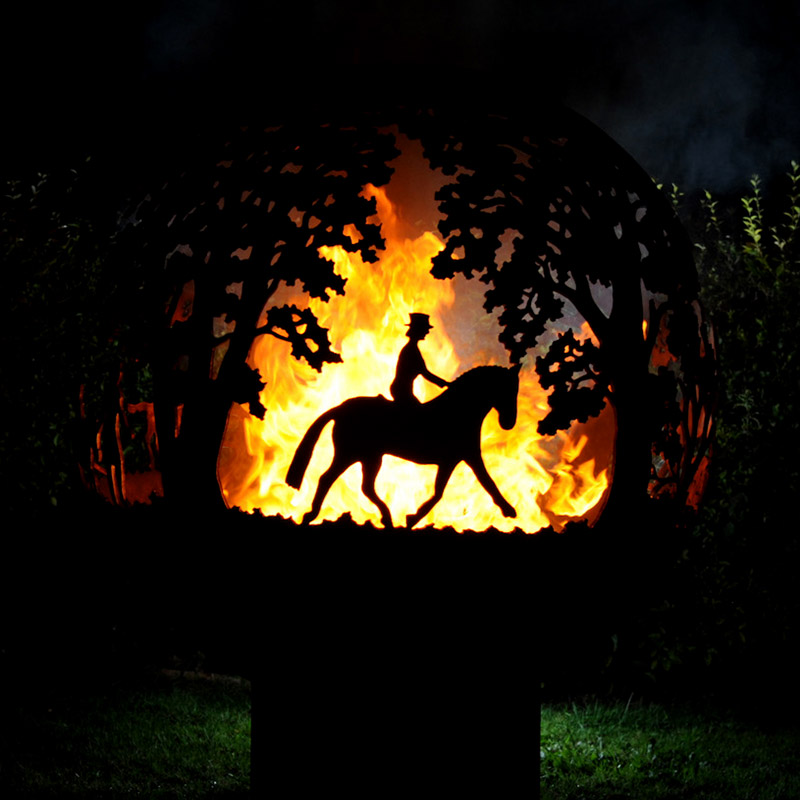 Equestrian fireball by Andy Gage