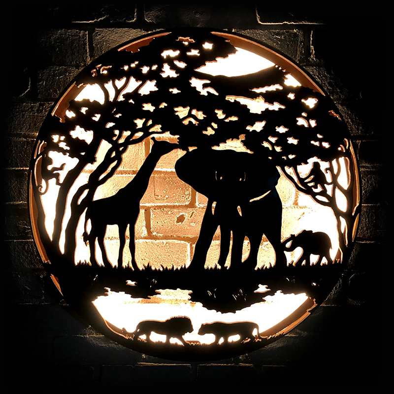 Africa illuminated wall mount Andy Gage