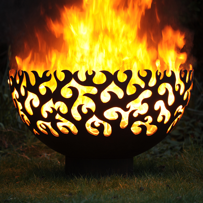 Flame fire bowl by Andy Gage