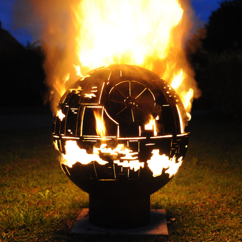 Death Star Themed Firepit by The Firepit Company