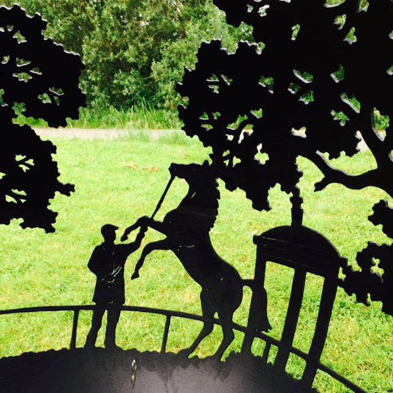 Horse Rutting on a Bespoke  Themed Firepit by The Firepit Company