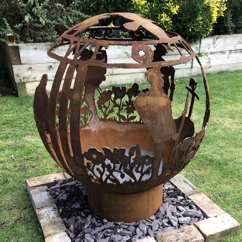 Remembrance Themed Firepit by The Firepit Company