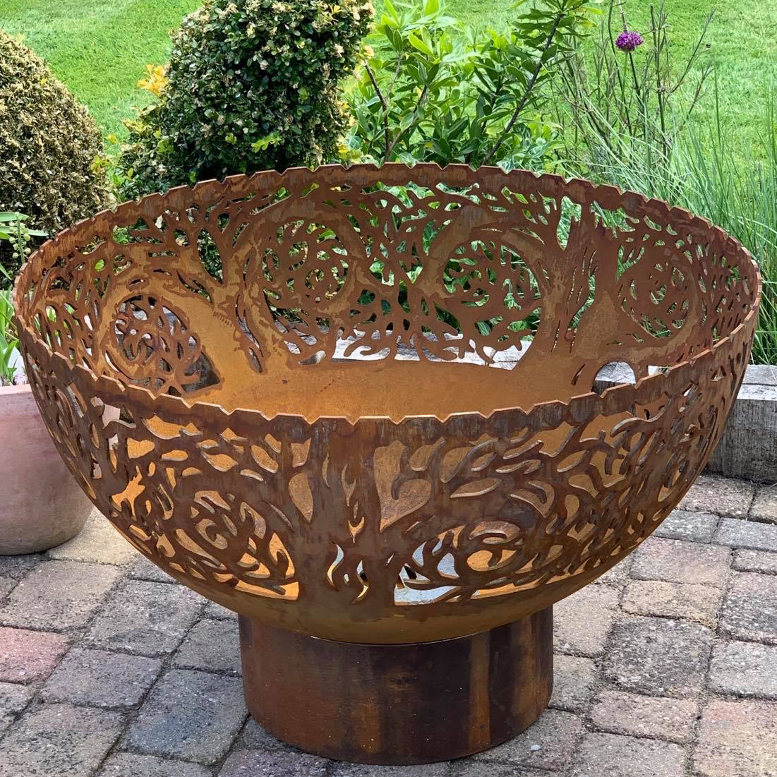 Twisted Tree firepit bowl by Andy Gage